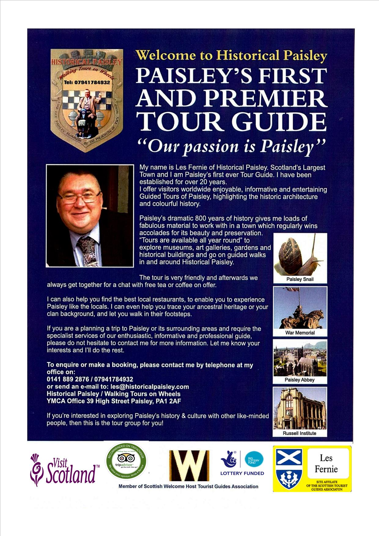 Paisley Guided Walking Tours