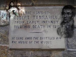 Memorial Plague Outside The Home of Robert Tannahill