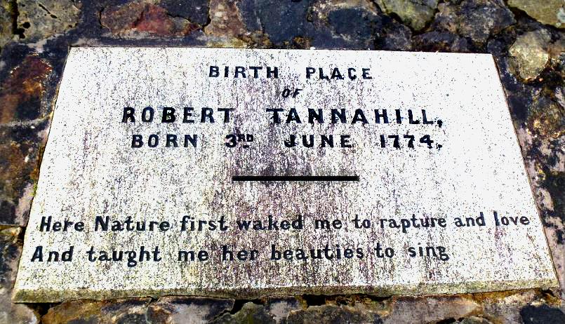 Robert Tannahill, Paisley's Famous Weaver, Poet, Songwriter