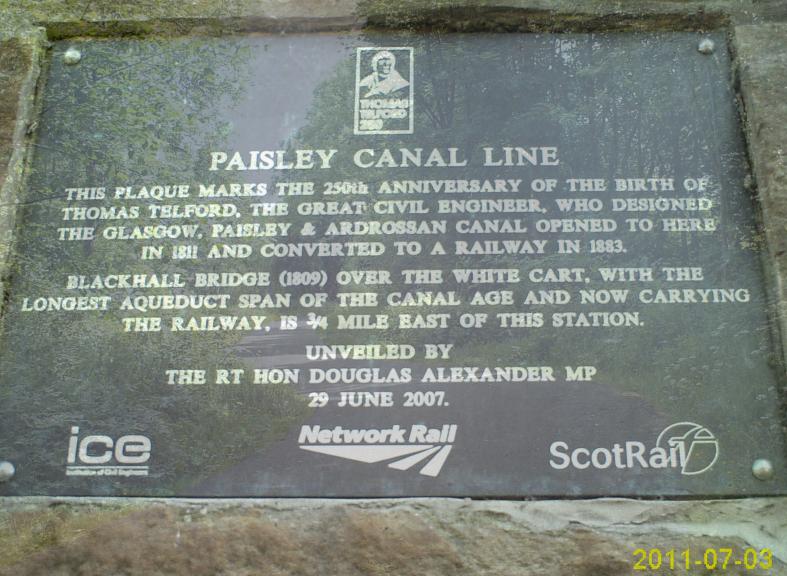 Paisley Canal Railway Line